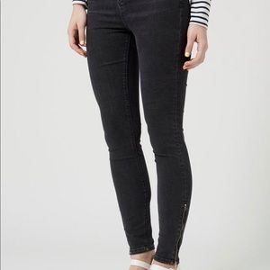 Topshop Jamie jeans zipper ankle